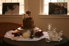 "chocolate pleated wedding cake • <a style=""font-size:0.8em;"" href=""http://www.flickr.com/photos/60584691@N02/6183908720/"" target=""_blank"">View on Flickr</a>"