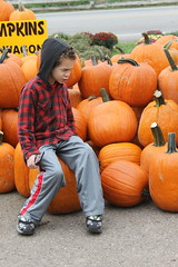 Aidan and some Pumpkins