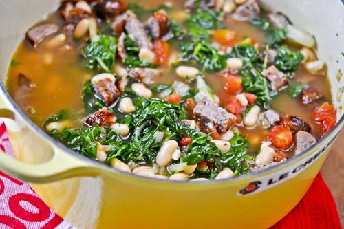 Swiss Chard, White Bean & Sausage Soup 11