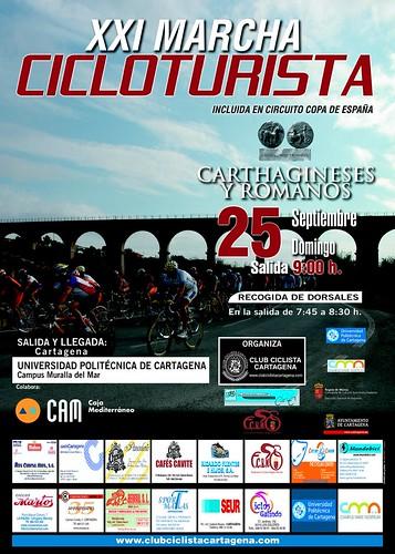 cartel marcha cicloturista carthagineses y romanos