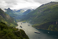 _MG_0619 Cruise ships in Geirangerfjord, Norway 20Jul11 (Lathers) Tags: norway cliffs seabirds cruiseships geirangerfjord jul11 norwegiansea mvmarcopolo arcticcruise canon7d