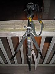Set up from last night... (w3inc / Bill) Tags: tripod balance setup railing w3inc