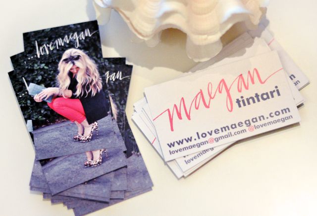 blog business cards, new business cards -front and back