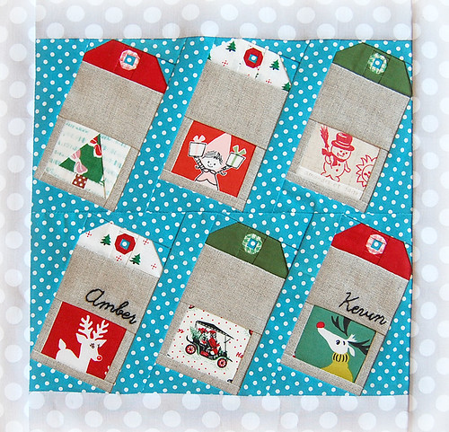 Christmas Gift Tags block for Amber - Ringo Pie Bee