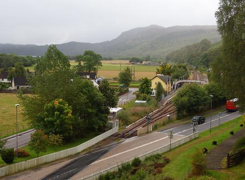 Garve rail station from war memorial