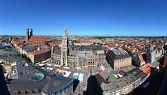 "Munich from ""Alter Peter"" (-ErDeM-) Tags: autostitch panorama munich mnchen bayern bavaria 1020mm d5100"