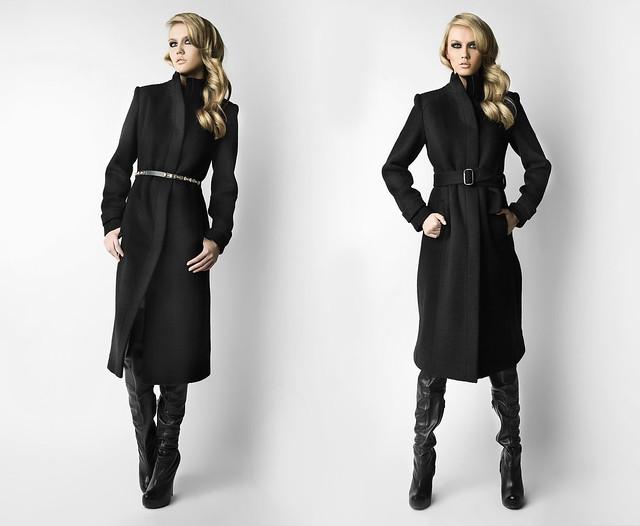 Черное пальто Kate Frankfurt