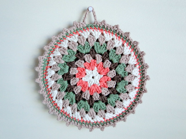 fall mandala potholder