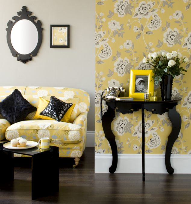 Living Room - Yellow Accents