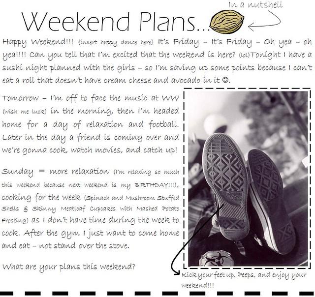 weekend plans 9.30.11