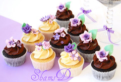 Wedding Cupcakes (~Trs Chic Cupcakes by ShamsD~) Tags: africa flowers roses cupcakes south fondant weddingcupcakes shamsd shamimadesai