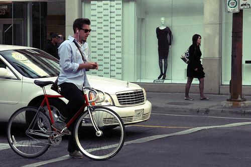 Biker on 1st