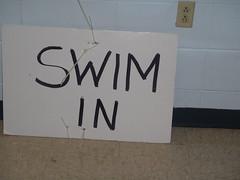 Swim In Sign