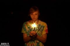 believe in me. (365daysofsarav) Tags: girl random celebration tiedye sparkler uploadedviaflickrqcomfirework