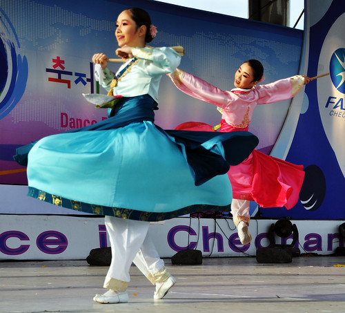 Korean Dancers at the Choenan World Dance Festival, Korea