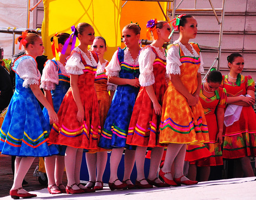 Russian Dancers Waiting to Perform