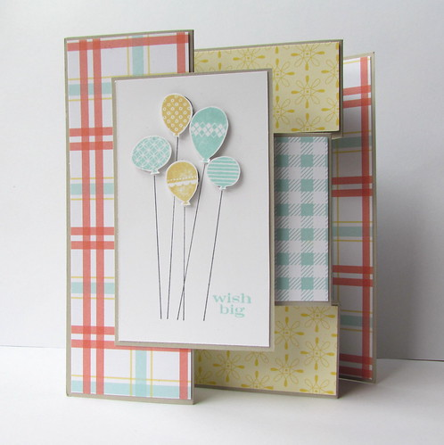 Patterned Party Tri Shutter Card