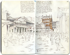 London, Covent Garden (freekhand) Tags: london sketchbook coventgarden urbansketch