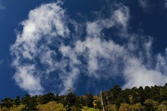 Air (Teruhide Tomori) Tags: autumn sky mountain tree nature japan clouds forest   okuhida  abopass  oltusfotos  nipponalps
