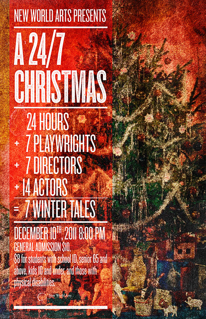SAoS - New World Arts' A 24/7 Christmas Festival poster - Revised version