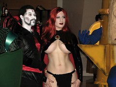 Goblin Queen and Mister Sinister (BelleChere) Tags: atlanta costume geek cosplay harrypotter convention marvel dragoncon siriusblack modok madelynepryor goblinqueen yuleball mistersinister bellatrixlestrange