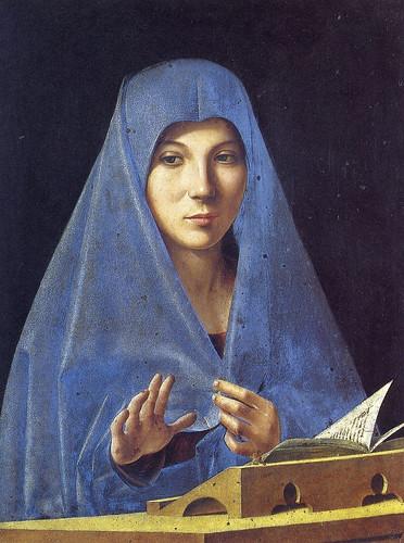 Antonello da Messina - L'annunciata 1b - Palazzo Abatellis Palermo - tommasoaiello-files by petrus.agricola