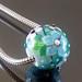 Charm bead : Teal garden