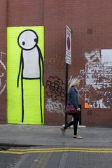Stik_checking_her_out (piers mason) Tags: street streetart pasteup art writing painting print graffiti stencil montana screenprint paint artist wheatpaste paste urbanart painter writer cans graff piece dubs wooster belton chromes artfag picturesofwalls fatcap stik lithoprint wsawof chromeandblack