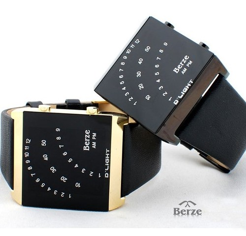 led watches - Latest Fashion Elaboration Berze Leather LED watch