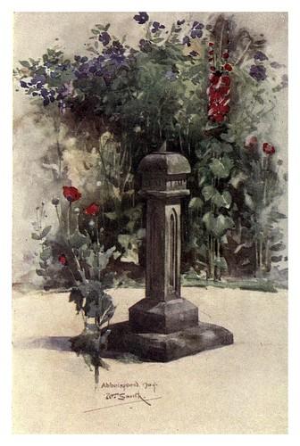 008-Reloj de sol de Sir Walter en Abbotsford-The charm of gardens 1910- Dion Clayton Calthrop