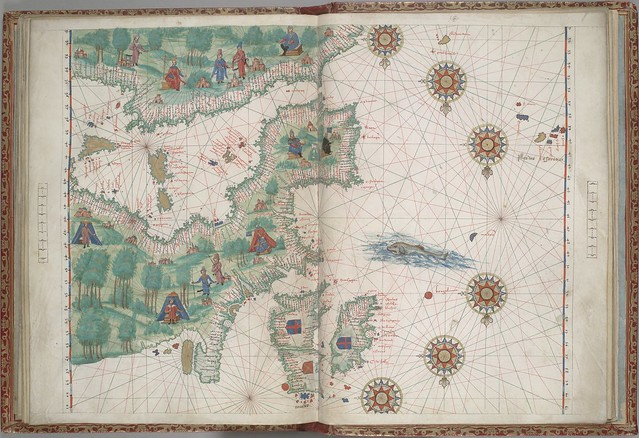 Portuguese manuscript map of Western Europe and NW Africa