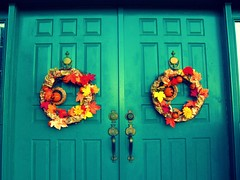 Ready for Fall (Miss Coral Marieee) Tags: fall outdoors wreath decor doorpicnik