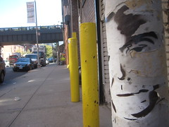 Dr Smith Graffiti Face 5075 (Brechtbug) Tags: show from street new york city art face that lost graffiti tv gallery jonathan dr space like smith looks actor 10th 1960s harris avenue 20th 1965 in 10172011