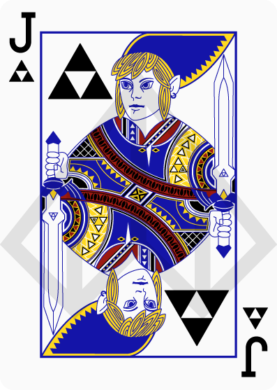 Cartas de póquer de Zelda 3