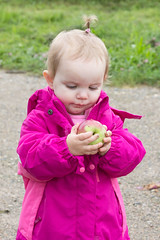 Checking Out Apple (Craig Dyni) Tags: apple girl toddler madelyn alannah erwinorchards dyni