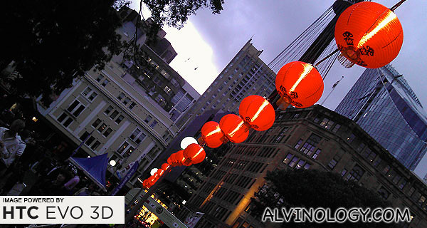 Rows of Chinese red lanterns at Hyde Park