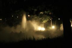 Grizzly River in the Fog (matt_butt) Tags: fog night geyser disneycaliforniaadventure grizzlyriverrun
