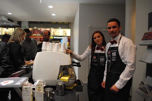 Kaffeknappen bjöd på kaffe