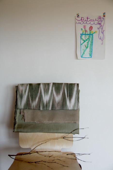 Roba de llegües ikat fabric