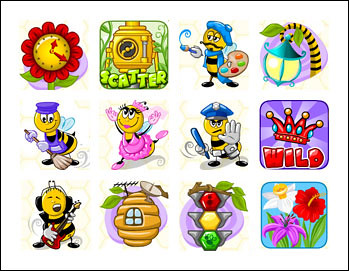 free Bee Land slot game symbols