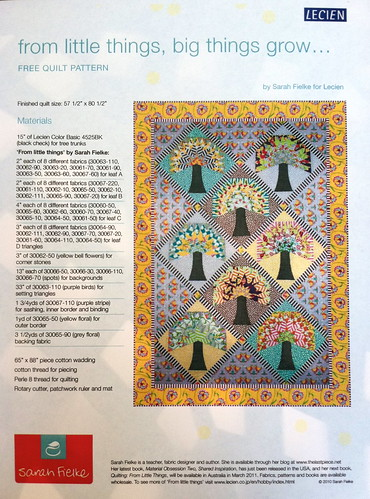 My Project Choice - Quilting Book Club assignment