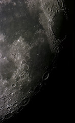 Moon mosaic  8/16/11 (zAmb0ni) Tags: sky moon night solar webcam mare mosaic system crater astrophotography astronomy celestron spc900