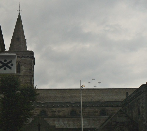 Four in Formation above Church.