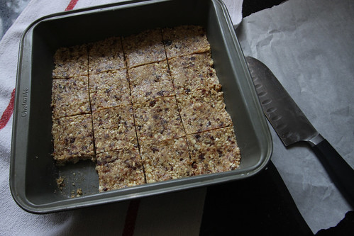 maple cashew oatmeal squares