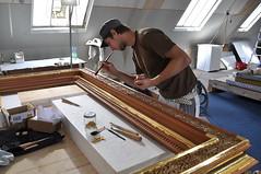 Blattgold Vergoldung Bilderrahmen (Gold'n art) Tags: restoration restaurierung vergolden vergoldung goldenart goldnart goldandart