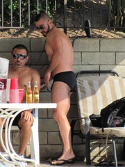 Pool Party (CAHairyBear) Tags: man men uomo mann hombre manner homme hom