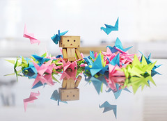 Danbo's All Time Love (Ting Hay) Tags: pink blue green origami danbo alltimelove