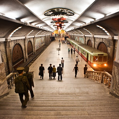 Pyongyang subway station (samthe8th) Tags: northkorea nkok