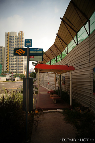 Bus stop at Blk 118