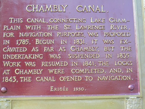 The word on the Chambly Canal